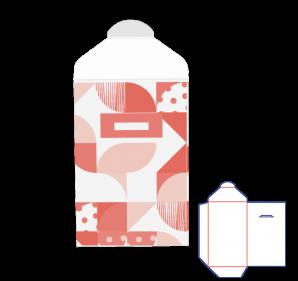 Versandtasche mit Steckverschluss