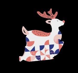 """Geschenkbox Rentier """"Rudolph"""" Vorderseite"""